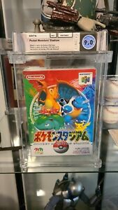 Pokemon Pocket Monsters Stadium N64  Video Game Wata Graded 9.0 1st Appearance