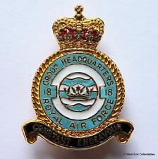 RAF 18 Group Headquarters - Royal Air Force Enamel Brooch Badge - Strike Command