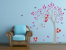 JUNGLE TREE BIRDS FOX 1.3M HIGH Wall Sticker Removable Quote Vinyl Art Decal DIY