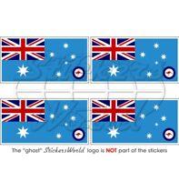 AUSTRALIA AirForce RAAF Flag Bumper Stickers 50mm x4