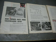 VOLKSWAGON  BEETLE 1963 ORIGINAL ADVRT. REPORT  OWNERS RATING 7X9  5 PAGES NICE
