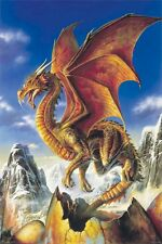 Dragon Art Poster ~ Snow 24x36 Dragons Egg Mountain Bob Eggleton