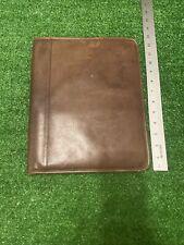 Vintage Brown Leather Coach Portfolio Classic Notepad Padfolio Patina Heavy Use