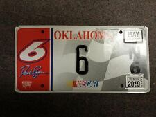 2010 Real OKLAHOMA Nascar License Plate #6 For Driver of Car #6 David Ragan