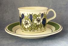 ARABIA OF FINLAND, Krokus, Vintage, Coffee Cup & Saucer, Excellent Condition