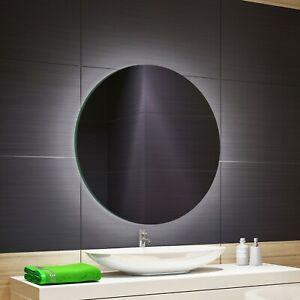 BADSPIEGEL mit LED RUND Bad Spiegel mit Beleuchtung Wandspiegel 50-100cm