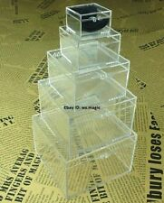 Crystal Nest of Boxes Magic Trick Ring Coin To Box Close Up Street Stage Parlor