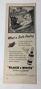 Original Print Ad 1951 BLACK & WHITE Scotch What a Safe Feeling Vintage Artwork