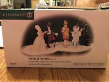 Department 56 Christmas In The City, Life Of The Party Figurines