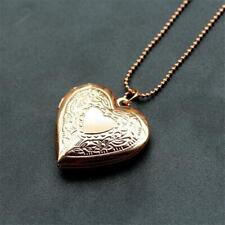 Rose Gold Plated Heart Locket Necklace