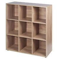 9 Cube Wooden Bookcase Shelving Display Shelves Storage Unit Wood Shelf Door New