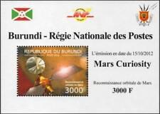 NASA MARS CURIOSITY Exploration Rover Vehicle Space Stamp Sheet #9 2012 Burundi