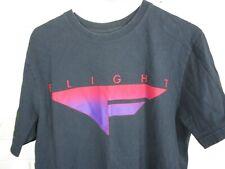 Nike Flight T-Shirt Black (L) Vintage Logo Tee Jordan Pippen Rodman 90's Faded