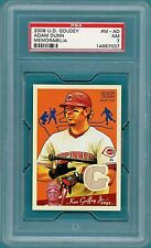 2008 UD Goudey Adam Dunn Game Used Jersey - #M-AD PSA 7! Reds! POP 1!
