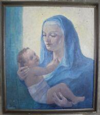 Roberto IRAS BALDESSARI  (Innsbruck 1894 - Roma 1965) Madonna con Bambino OLIO