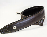 Genuine Garment Leather Padded Guitar/Bass Strap GL-025-02 Brown