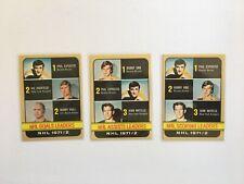 1972-73 Topps Hockey Leaders lot of 3 (Hull, Orr, Esposito) #61,62,63 NrMt
