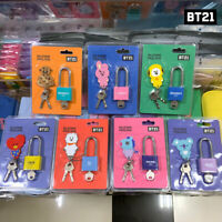 BTS BT21 Official Authentic Goods Silicone Padlock 30x68mm By Kumhong Fancy