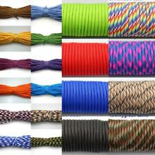 25 50 100FT 7 Strand Core 550 Paracord Parachute Cord Lanyard Mil Spec Type III