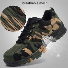 Mens Safety Shoes Steel Toe Cap Work Hiking Boots Breathable Shoes Trainers Size