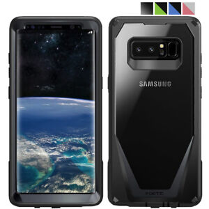 Case For Samsung Galaxy Note 8 Clear Back Shockproof Cover with Screen Protector