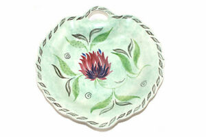 Floral Design Decorative Leaf Shaped Plate - Green - English