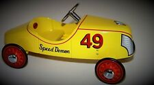 Pedal Car Vintage Soap Box Derby Racer Rare Show Classic Metal Midget Model