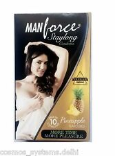 Manforce StayLong Pineapple Flavoured Extra Dotted Premium Condoms 10 pcs Pack