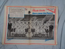 #PP.   1988 MANLY DAILY NEWSPAPER RUGBY LEAGUE SOUVENIR - GREAT BRITAIN V MANLY
