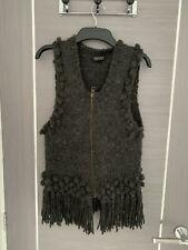 Top Shop Grey Wool Zip Vest Jacket Gillet