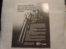 Colt Mk V Trooper single sheet sales brochure