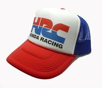 725175c4ea2 HRC Honda Racing trucker hat mesh hat red white blue new snap back  motocross hat