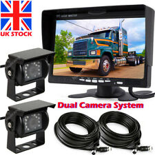"""Dual 4 Pin IR Night Vision Truck Camera and 7"""" Monitor for Horse Trailer Reverse"""