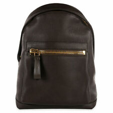 NWT $3290 TOM FORD Dark Brown Leather Backpack