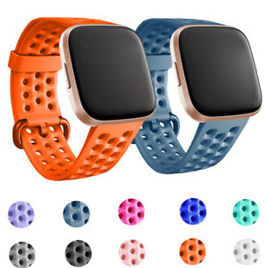 For Fitbit Versa 2 1/Lite Breathable Silicone Watch Band Silicone Strap Bracelet