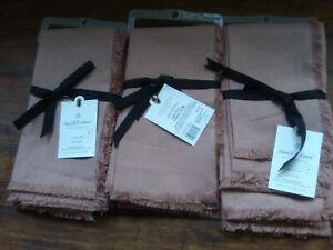 3 Sets Of 4 Hearth & Hand Cloth Napkins Mauve Pink