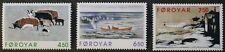 Paintings by Janus Kamban stamps, 1996, Faroe Islands, SG ref: 315-317, MNH