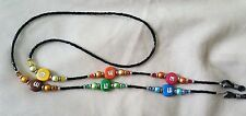 !! RAINBOW CANDY LOVER and Crystals !  EYEGLASS CHAIN  NEW!