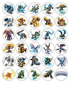 30 x4cm 30 MIXED IMAGES SKY LANDERS  EDIBLE WAFER/FONDANT PAPER CUP CAKE TOPPERS