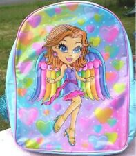 Lisa Frank Backpack NEW Sparkly Glitter ANGEL Girl Book Bag NWT Vintage