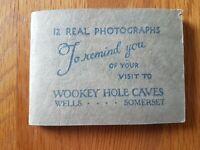 SNAPSHOTS  ALBUM of  WOOKEY HOLE CAVES,    12 REAL  PHOTOS Black & White