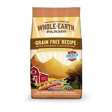 Whole Earth Farms Grain Free Recipe Dry Dog Food Salmon & Whitefish 4-Pound