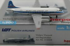 Herpa Wings 1:500 LOT Polish Airlines Vickers Viscount (512008)