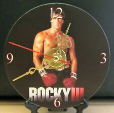 Brand New ROCKY III Balboa CD Clock Movie Boxing Italian Stallion Stallone