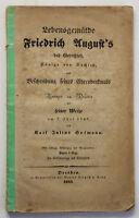 Hofmann Lebensgemälde Friedrich August´s des Gerechten 1843 Geschichte sf