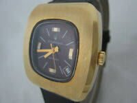 NOS NEW SWISS WATER RESIST BIG AUTOMATIC STRAUMANN WATCH 1960'S