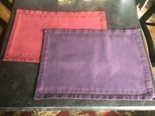 Pottery Barn Napkins 3 Purple 3 Red