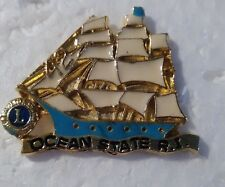 Lions Club Pin Ocean State R.I.  Sailboat vintage pin beautiful