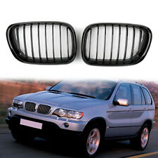 Front Replacement Gloss Black Kidney Grille For BMW X5 E53 1998-2003 2002 BS3