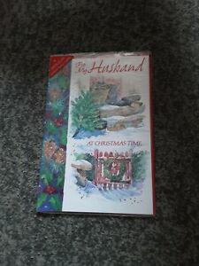 Husband Christmas Card BNIP -  wellies, gate